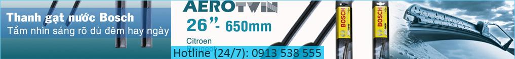 Chổi gạt nước mưa ô tô Bosch Aerotwin Đức