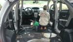 Giải pháp sấy khô nội thất ô tô bằng cách dùng súng xịt hơi tạo lốc xoáy chuyên dùng