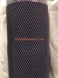 Bán buôn thảm cuộn cao su ống dày, kích thước 1,22m x 9,2 m, màu đen, loại dày ống thô, nặng 35-40kg/cuộn