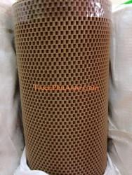 Thảm cuộn cao su ống cao cấp loại thô dày, màu vàng kem ,cuộn 9,2m x 1,2m, nặng 40-45 kg, chuyên dùng cho ô tô