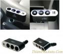 Chia tẩu thuốc lá, cắm sạc ô tô cao cấp, loại chia 3 tẩu dùng nhiều thiết bị cùng lúc