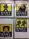 Tem dán chữ, dán hình baby in car , dán sau xe cảnh báo nguy hiểm