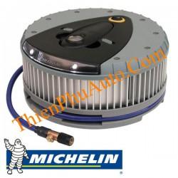 Bơm lốp khẩn cấp ô tô  Michelin tròn, sản phẩm của Hoa kỳ,  có bơm lốp, bơm bóng hơi, hiển thị áp suất trên màn hình LCD